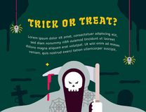 Halloween party graphic template vector illustration