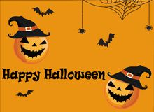 Halloween Party greeting card vector image royalty free illustration