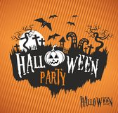 Halloween party, Halloween poster Stock Photography