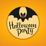 Halloween party handwritten lettering Stock Images