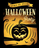 Halloween party. Happy Halloween poster with laugh pumpkin Royalty Free Stock Image