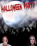 Halloween-Party-Hintergrund Lizenzfreie Stockfotos