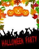 Halloween-Party-Hintergrund Lizenzfreies Stockbild