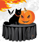 Halloween party. Holiday composition. Illustration Stock Photography