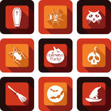 Halloween party icon design set Royalty Free Stock Images