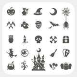 Halloween party icons set Royalty Free Stock Images