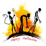 Halloween Party. Illustration of ghost going for Halloween Party Stock Photos
