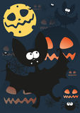 Halloween party. Illustration of greeting card for halloween party Royalty Free Stock Photos