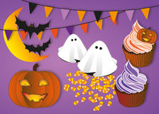 Halloween party illustration set Royalty Free Stock Image