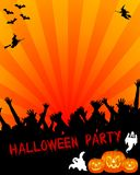Halloween party invitation. A background for a Halloween Party invitation or flier royalty free illustration