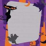 Halloween Party Invitation Mid-Centruy Modern. Halloween Party Invitation art in a mid century modern style with cats, bats, ghosts, stars and moons royalty free illustration