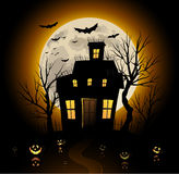 Halloween party invitation background Royalty Free Stock Photography