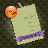 Halloween Party invitation.with  bats. Raster illu Royalty Free Stock Photography
