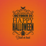 Halloween party invitation card background Royalty Free Stock Images
