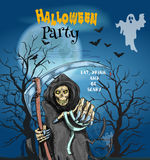 Halloween Party invitation card Stock Photo