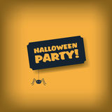 Halloween party invitation card. Simple cartoon Stock Images