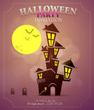 Halloween party invitation design Stock Photography