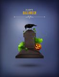 Halloween Party Invitation Stock Photography