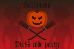 Halloween party invitation. Holiday card, flyer. Royalty Free Stock Image