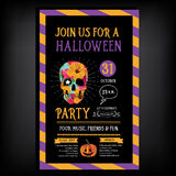 Halloween party invitation. Holiday card. Royalty Free Stock Photo