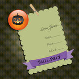 Halloween Party invitation.with  jack-o,. Raster illustration. Royalty Free Stock Image