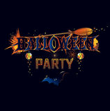 Halloween party invitation. With a luminous design Stock Images