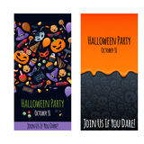 Halloween party invitation poster card design Royalty Free Stock Photos
