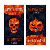 Halloween party invitation poster card design Stock Photos