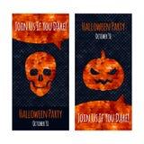 Halloween party invitation poster card design Stock Photos