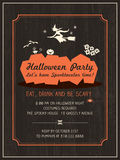 Halloween Party Invitation Template Royalty Free Stock Photography