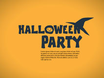 Halloween party invitation template. Holiday Stock Image