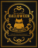 Halloween party invitation. Vector card. Stock Photography
