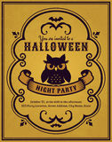 Halloween party invitation. Vector card. Stock Photos