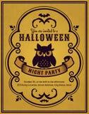 Halloween party invitation. Vector card. Stock Photos