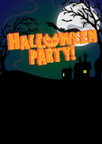 Halloween Party Invite Poster. A  designed Halloween party poster Stock Image