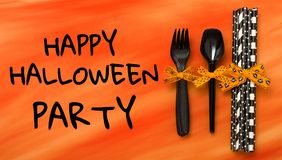 Halloween party items Stock Images