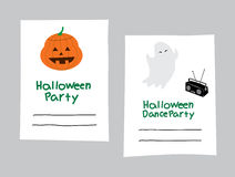 Halloween-Party-Karte Stockfotos