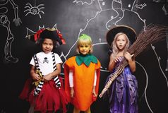 Halloween party for kids stock images