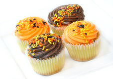 Halloween-Party-kleine Kuchen Stockbilder