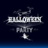 Halloween party label Stock Photos
