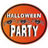 Halloween party,  label Royalty Free Stock Photos