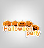 Halloween party label Royalty Free Stock Images
