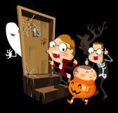 Halloween-Party mit Kostüm Stockbild