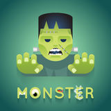 Halloween Party Monster Role Character Bust Icons Stock Photo