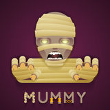 Halloween Party Mummy Role Character Bust Icon Stock Photos