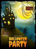 Halloween Party night with house. EPS 10 Stock Photography