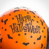 Halloween party orange balloon. Happy holiday Stock Images