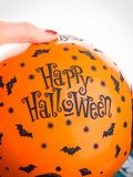 Halloween party orange balloon. Happy holiday Royalty Free Stock Photo