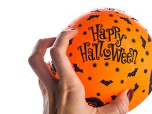 Halloween party orange balloon. Happy holiday Stock Photo