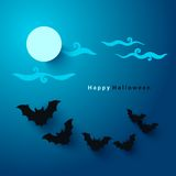 Halloween party paper cut background Royalty Free Stock Photos